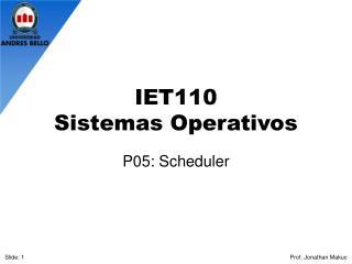 IET110 Sistemas Operativos