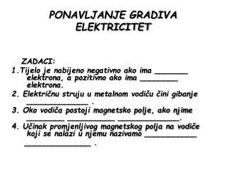 PONAVLJANJE GRADIVA ELEKTRICITET