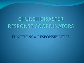 Essentials of Church Disaster Preparedness and Response