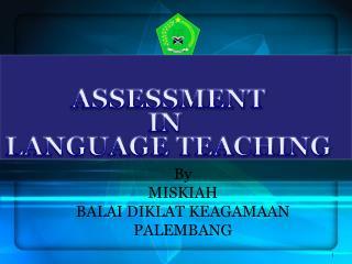 By MISKIAH BALAI DIKLAT KEAGAMAAN PALEMBANG