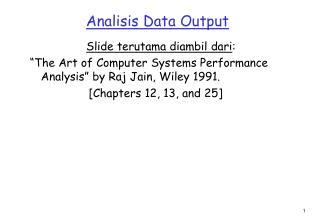 Analisis Data Output