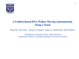A Unidirectional DNA Walker Moving Autonomously Along a Track