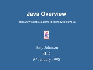Java Overview  www-sldnt.slac.stanford