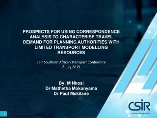 Correspondence Analysis CA