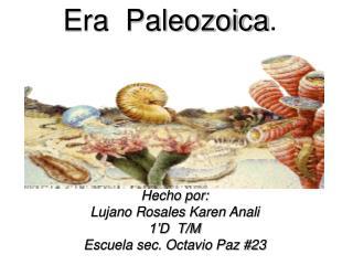 Hecho por: Lujano Rosales Karen Anali 1'D  T/M Escuela sec. Octavio Paz #23