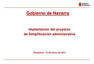 Implantación del proyecto  de Simplificación administrativa