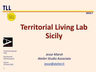 Territorial Living Lab Sicily