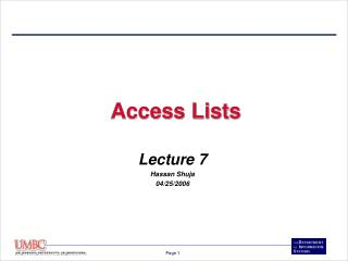 Access Lists
