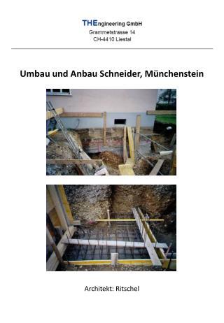 Umbau und Anbau Schneider, Münchenstein