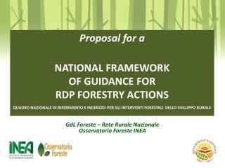 GdL Foreste – Rete Rurale Nazionale Osservatorio Foreste INEA