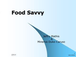 Food Savvy