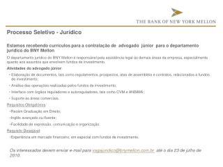 Processo Seletivo - Jurídico