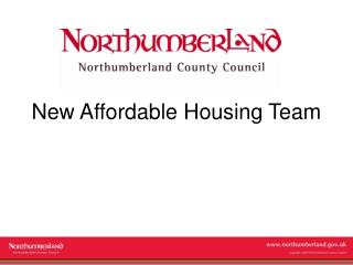 New Affordable Housing Team