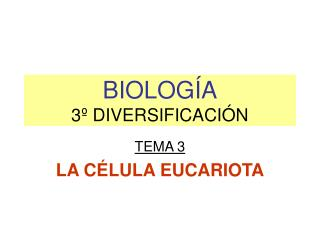 BIOLOG�A 3� DIVERSIFICACI�N