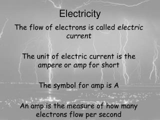 Electricity and Ohm's Law