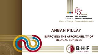 Improving the affordability of medical schemes