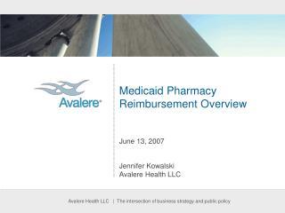 Medicaid Pharmacy Reimbursement Overview June 13, 2007