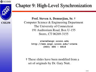 Chapter 9:  High-Level Synchronization