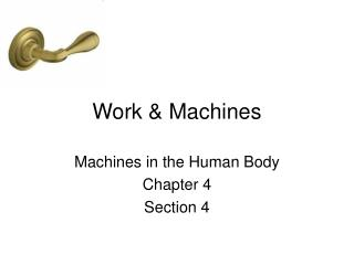 Work & Machines