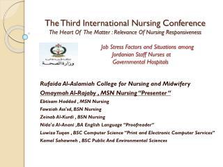 Rufaida  Al- Aslamiah  College for Nursing and Midwifery