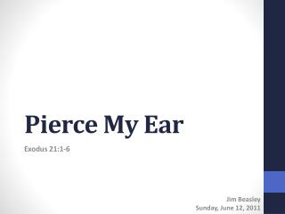 Pierce My Ear