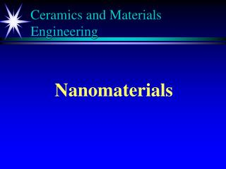 Ceramics and Materials Engineering