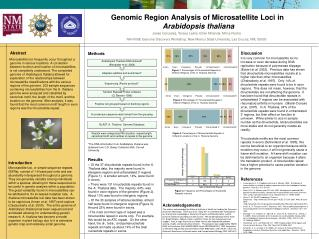 Genomic Region Analysis of Microsatellite Loci in Arabidopsis thaliana