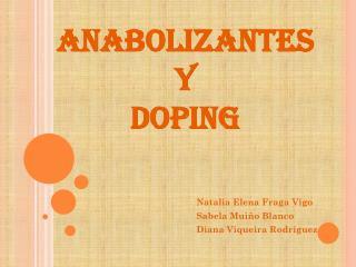 ANABOLIZANTES Y  DOPING