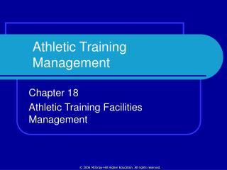 Athletic Training Management