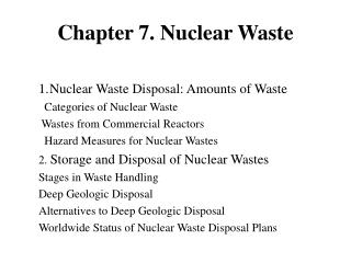 Chapter 7. Nuclear Waste