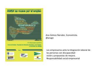 Ana  Gómez Narváez. Economista.  @ anagn