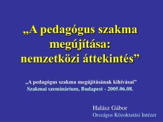 Halász Gábor Országos Közoktatási Intézet