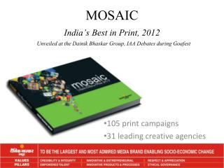MOSAIC India's Best in Print ,  2012