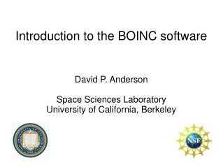 Introduction to the BOINC software