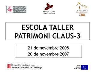 ESCOLA TALLER  PATRIMONI CLAUS-3