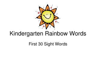 Kindergarten Rainbow Words