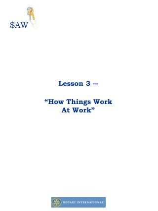 "Lesson 3 ― ""How Things Work At Work"""