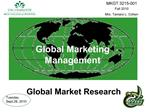 Global Marketing Management    Global Market Research
