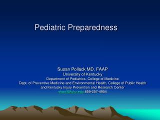 Pediatric Preparedness