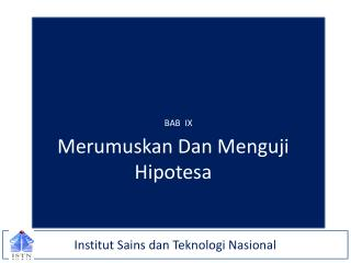 Institut Sains dan Teknologi Nasional