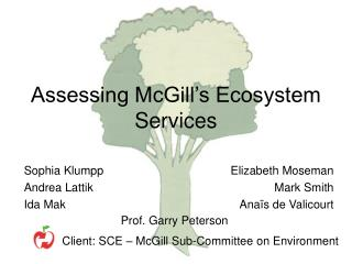 Assessing McGill's Ecosystem Services