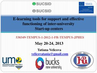 E-learning tools for support and effective functioning of inter-university