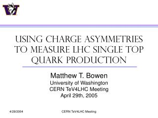 Using Charge Asymmetries to measure LHC single top Quark production