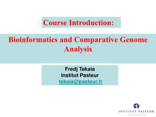 Bioinformatics and Comparative Genome Analysis