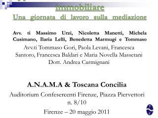 A.N.A.M.A & Toscana Concilia Auditorium Confesercenti Firenze, Piazza Piervettori n. 8/10
