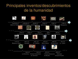Principales inventos/descubrimientos de la humanidad