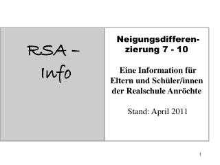 RSA –  Info
