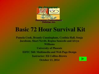 Basic 72 Hour Survival Kit