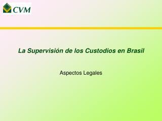 La Supervisión de los Custodios en Brasil