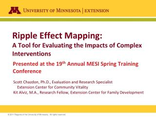 Ripple Effect Mapping:  A Tool for Evaluating the Impacts of Complex Interventions
